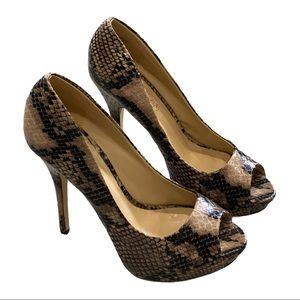 Gorgeous snake skin heels, ALDO Sz 38 Retro